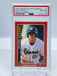 2010 Cedar Rapids Kernels Mike Trout Rising Rookie Card RC GRADED PSA 10 GEM MT
