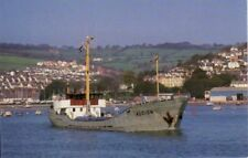 Teignmouth Devon Alcion Dutch coaster off shore