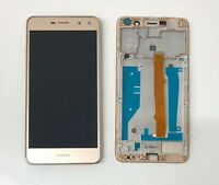 New Huawei Y6 2017 Touch Screen Digitizer LCD Display Assembly Frame Gold
