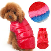 Hundemantel Winter Winterjacke Hundebekleidung Französische Bulldogge Mops Rot