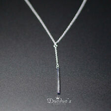 925 Sterling Silver  Necklace With Slim Bar Pendant
