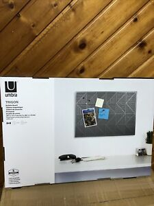 Umbra Trigon Bulletboard, Charcoal 470790-149 Brand New