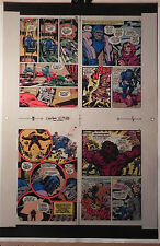 NEW GODS BOOK 6 FLAT 3 JACK KIRBY ORIGINAL 3M COLOR ART SIGNED A. TOLLIN w/COA