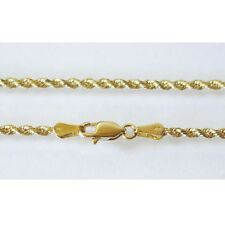 """14K Solid Yellow Gold Rope Chain 5.1 Grams W: 2.0 mm Length: 18"""" (45 CM) N40"""