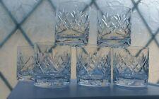 Royal Doulton crystal whisky whiskey tumblers glasses set Six 6 Georgian pattern