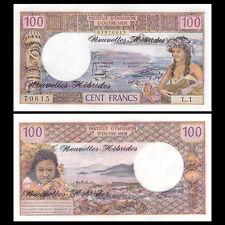 New Hebrides, 100 Francs, ND(1977), P-18d, banknote, UNC