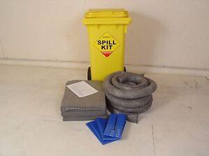 120L General Purpose Spill Kit c/w Wheelie Bin