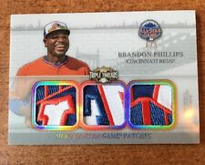 BRANDON PHILLIPS 2014 TRIPLE THREADS SICK GAME USED ALL-STAR GAME PATCH /9