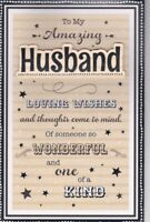 Husband Birthday Card Large 8 Page Verse Card