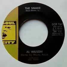 """Northern 60's Soul 7""""-Al Wilson-The Snake-US Soul City records issue copy"""