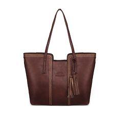 Women Leather Tote Bag Handbag Lady Purse Shoulder Messenger Satchal Bags T11