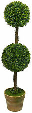 Double Ball Artificial Shrub Topiary in Pot (Fake Plants) 85cm - 6010