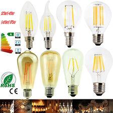 Dimmable B22 E27 E14 2/4/6/8W LED Light Bulb Edison Retro Vintage Filament Lamp