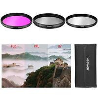3 Pcs 52mm CPL FLD UV Filter Kit for Nikon D3100 18-55mm Lens