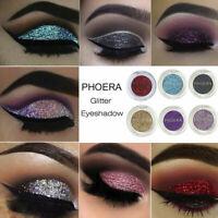 Pro PHOERA Glitter Powder Shimmering 12 Colors Eyeshadow Metallic Eye Cosmetics
