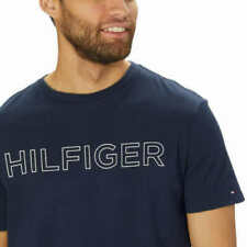 NWT Tommy Hilfiger Men's Short Sleeve Tee Dark Blue Logo Graphic T-Shirt MEDIUM