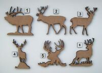 MDF Wooden Stag Cut Out Shapes, craft making, painting, decoration