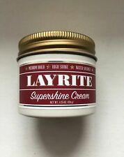 Layrite Supershine Hair Cream 4.25 oz Pomade Hair Styling Wax Medium Hold Shine