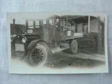 Vintage Photo Man w/ REO Speedwagon Truck 822