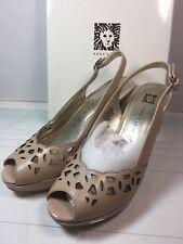 Anne Klein Womens Sz 7 M Akrubena Slingback High Heels Sandal (1028)