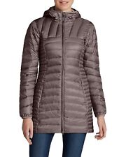 EDDIE BAUER Women's Astoria Hooded Down Parka Long Winter Coat Size XS Anemone