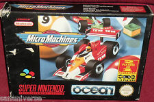 RETRO GIOCO SUPER NINTENDO SNES GAME-MICROMACHINES-BOX RETROGAME NUOVO formula 1