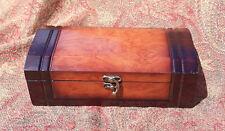 "New listing Mahogany/Oak Wood Veneer Pet Urn Hinged Box 9.75"" x 4.75"" x 3"" Free Priority C9"