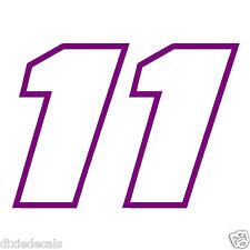 """2.5"""" x 3.5"""" Denny Hamlin Number 11 Window Decals Vinyl Stickers Joe Gibbs Racing"""