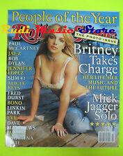 ROLLING STONE USA MAGAZINE 883/2001 Britney Spears Jay-Z Mick Jagger Bono  No cd