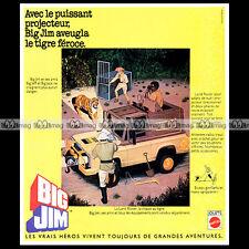 Mattel BIG JIM Safari JEEP - 1978 Pub Publicité Vintage Action Figure Ad #A232