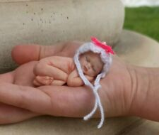 Baby doll Miniature, Realistic Reborn, Clay Babies, Tiny Sculpture, ooak doll,