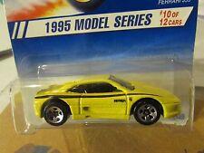 Hot Wheels Ferrari 355 1995 Model series Yellow 5sp w/black tampo rare