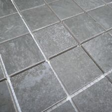 Peaks Anthracite Grey Textured Porcelain Mosaic Tile Sheets Bathroom Wet Room