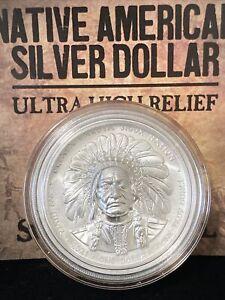 2021 Oglala Lakota Sioux Nation $1 1-oz Silver Sitting Bull & Buffalo Ultra High