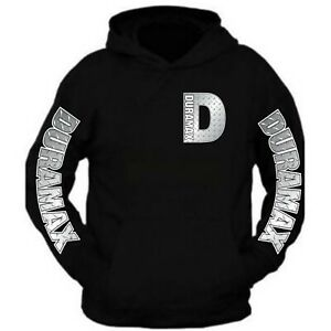 Duramax Black Hoodie D Design All Colors Hooded Sweatshirt The Back Is Plain