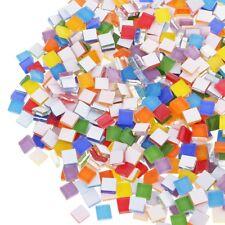 100pcs Square Multi Colors Glass Mosaic Tiles Tiny Mini DIY Home Decor Assorted