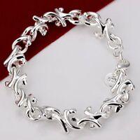ASAMO Damen Armband 925 Sterling Silber plattiert Schmuck A1042