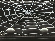 Spider Web Webb Black Genuine Leather Wallet With Chain (4 inch)