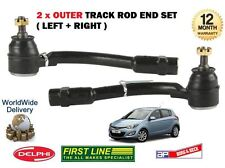FOR HYUNDAI i20 2009 > NEW 2x OUTER LEFT + RIGHT TIE TRACK ROD ENDS