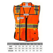 Class 2 High Visibility Reflective Harness D Ring Safety Vest P661112