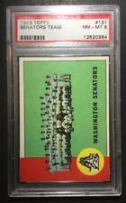 Topps 1963 Seantors Team #131 PSA 8