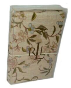RALPH LAUREN Romantic Traveler Paisley Floral KING PILLOWCASES NEW Cotton RARE