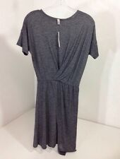 ASOS WOMEN'S DRAPE WRAP DRESS HEATHER GRAY US SZ 4 NWT