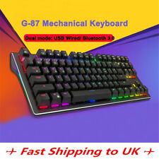 87keys Wireless/Wired bluetooth 3.0 USB Mechanical Gaming Keyboard Backlit  ❤