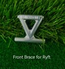 VITAVON CNC Front Brace for Axial RBX10 Ryft 4WD Bouncer 1/10 Silver