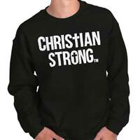 Jesus Christ Religious Bible God Christianity Faith Pray Pullover Sweatshirt