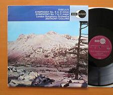 ECS 603 Sibelius Symphony no. 6 & 7 Anthony Collins London Symphony NM/EX Decca
