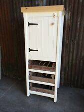 Rustic Pine Freestanding Kitchen Handmade Cupboard Pantry Larder Unit With Trays