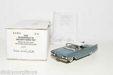 . S.A.M.S SAMS S16 OLDSMOBILE 98 HOLIDAY HARD TOP MET. BLUE MINT BOXED RARE!!!