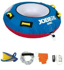 JOBE RUMBLE 1P TOWABLE PACKAGE INFLATABLE ROPE PUMP JETSKI BOAT TUBE RINGO